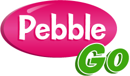 Pebble Go logo with link to organization's webpage