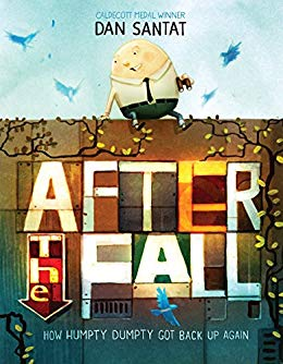 "Book cover of ""After the Fall"" featuring Humpty Dumpty Sitting on a Wall"