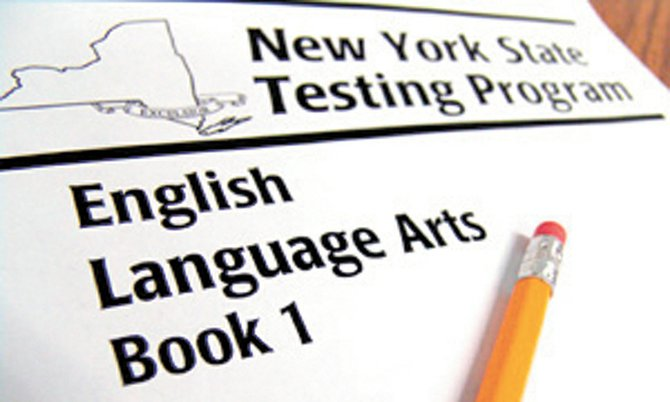 Cover of the NYS ELA testing booklet