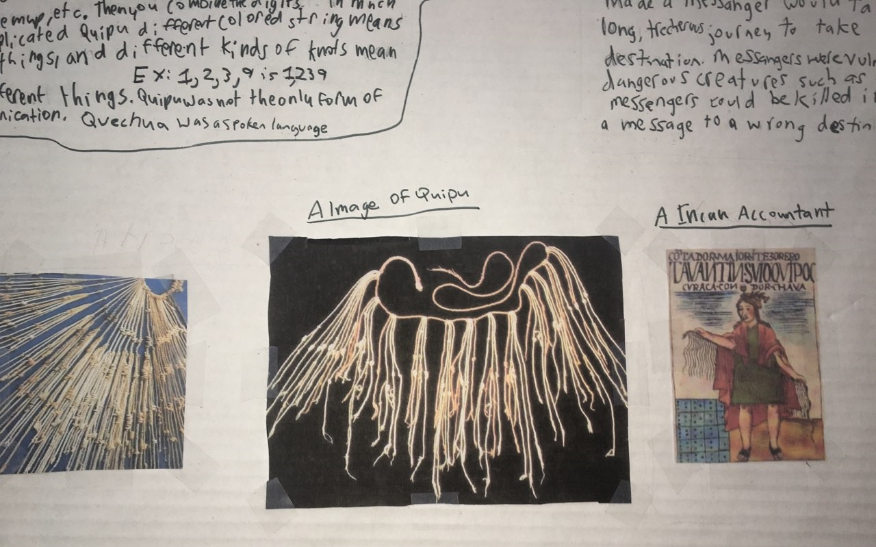 Quipu - an ancient message system using knotted strings