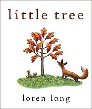 "Book Cover for ""The Little Tree"" featuring a tree and fox"