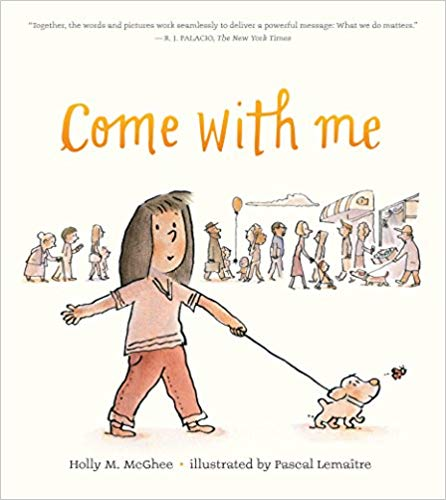Book Cover with Girl Walking her Dog