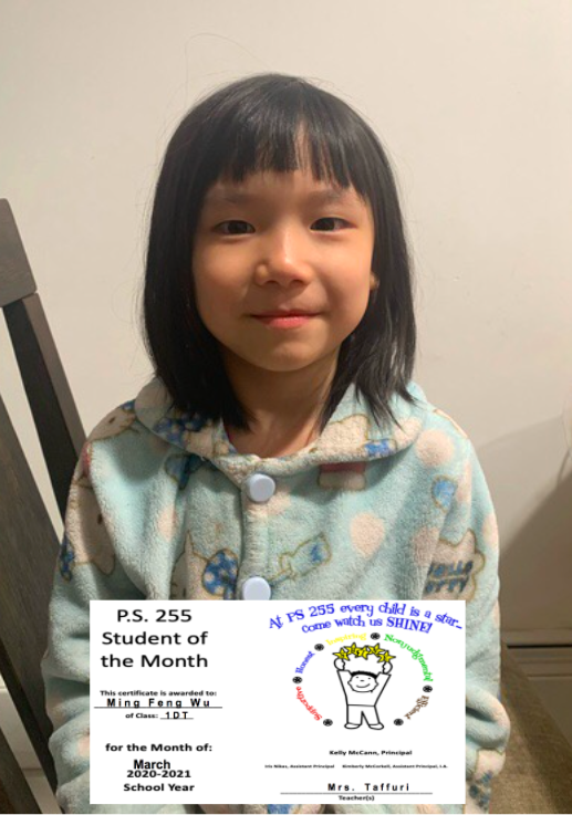 Ming March Student of the Month