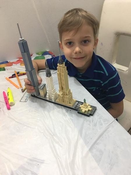 Boy shares buildings he made using Legos