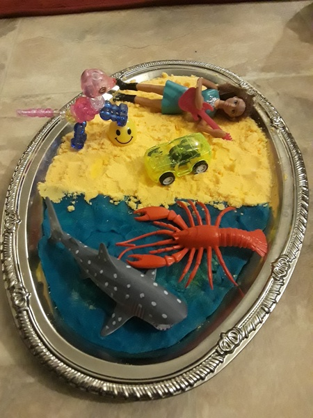 animals on a sand like mixture