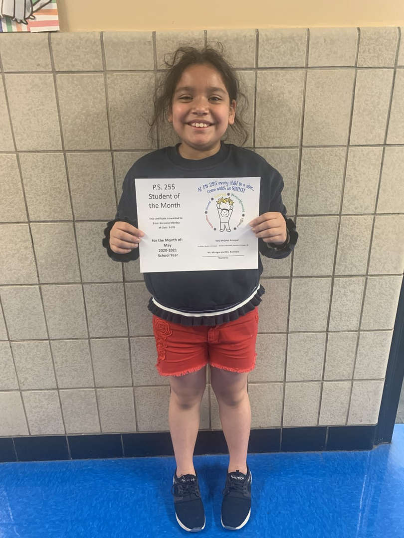 Ester May Student of the Month
