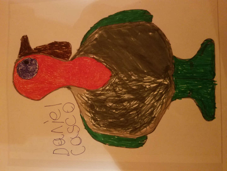Brown, orange and green turkey