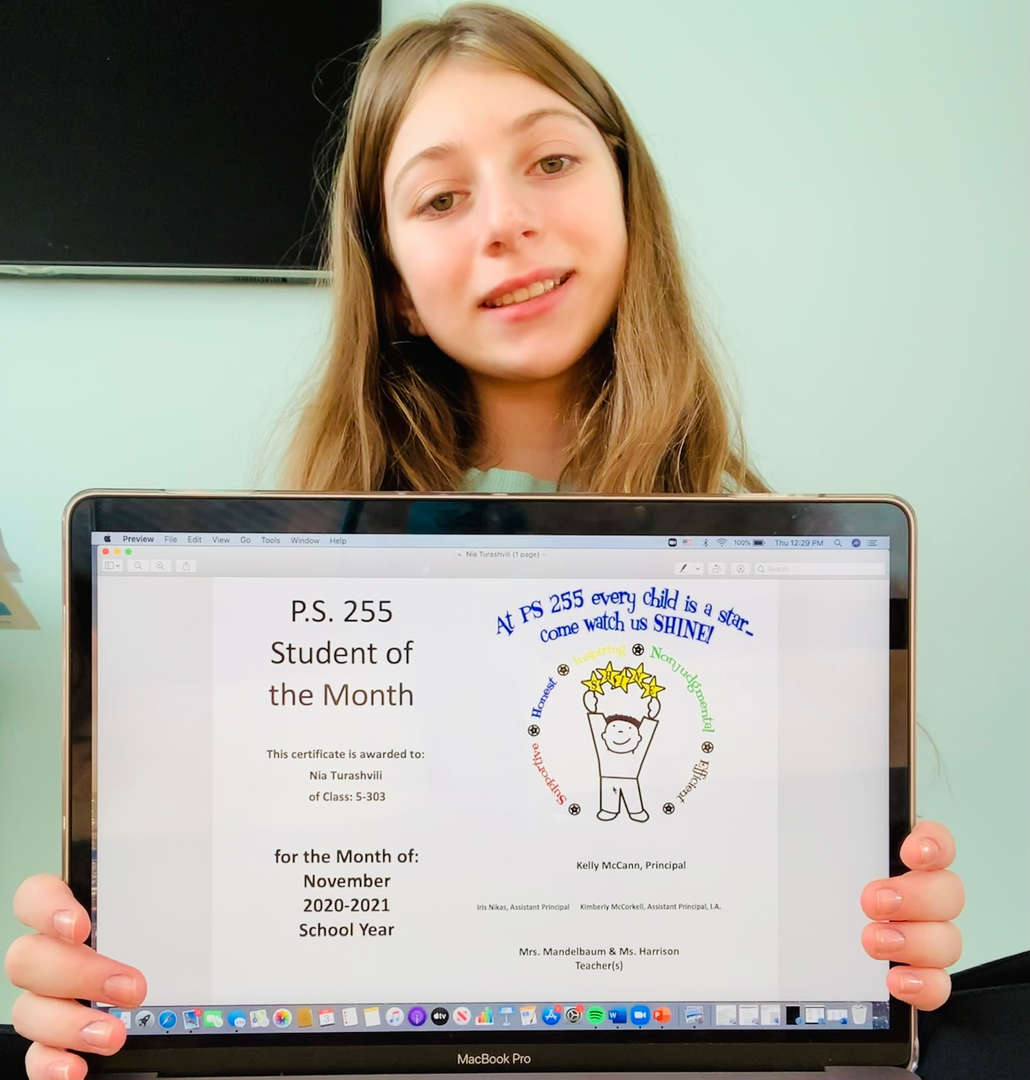 Nia November 2020 Student of the Month