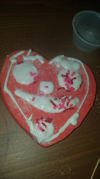decorated heart cookie