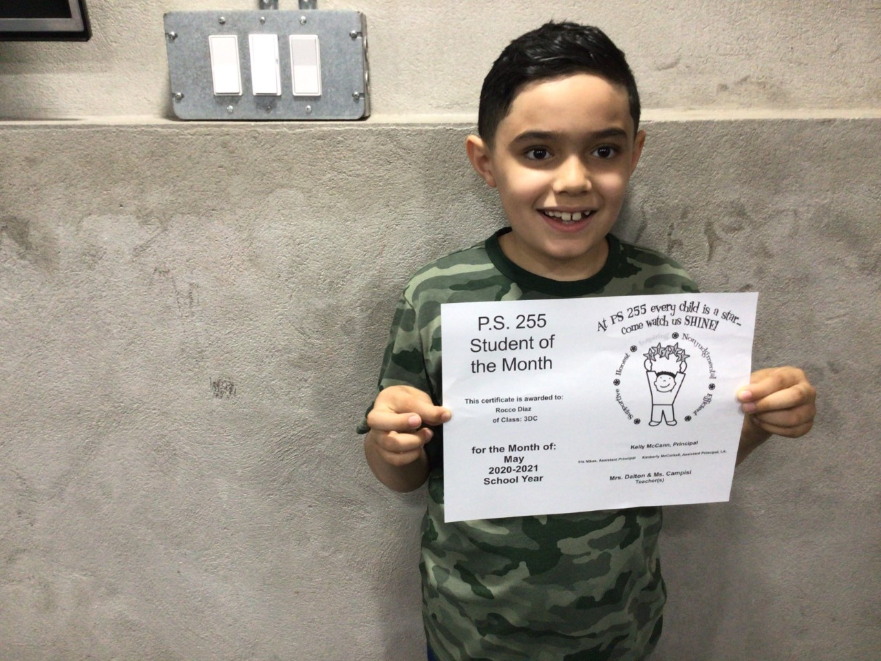 Rocco May Student of the Month