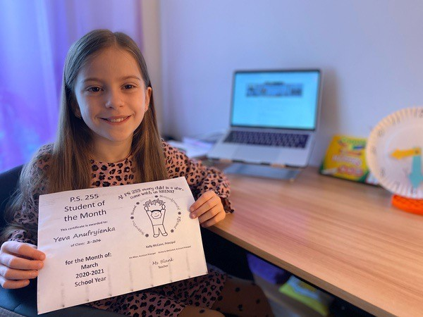 Yeva March Student of the Month