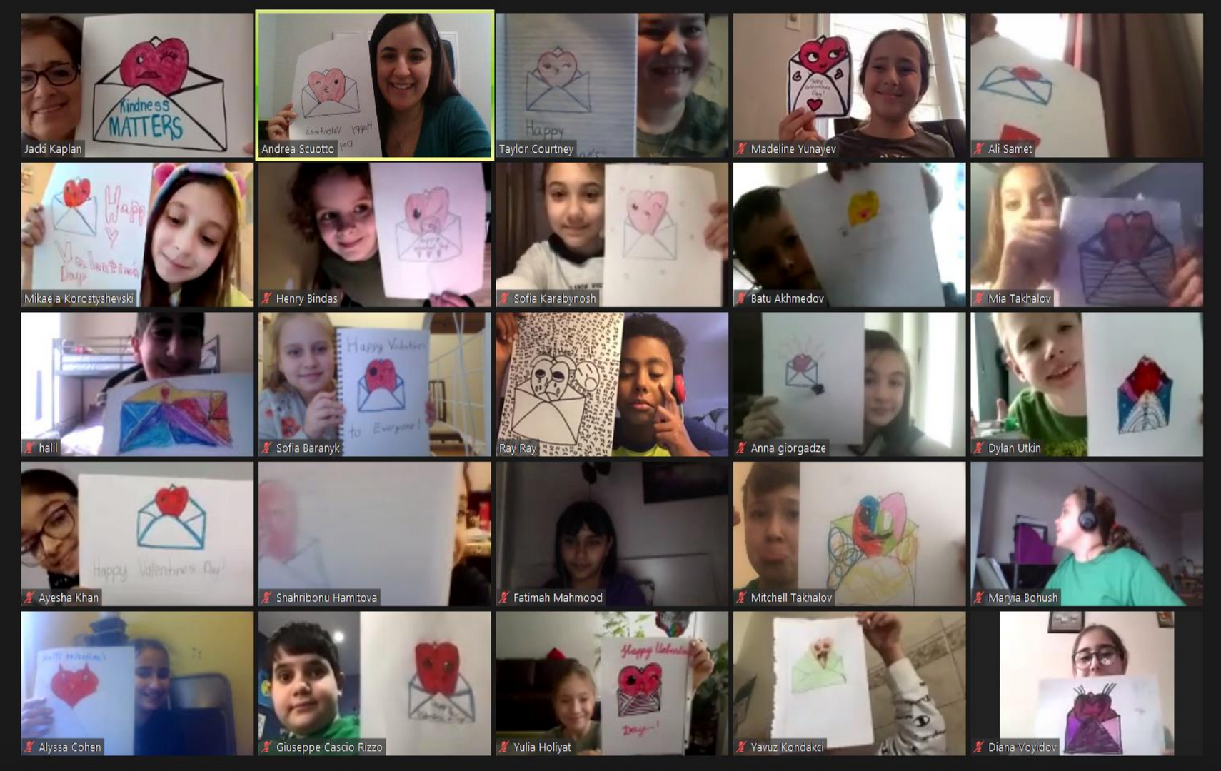 fourth grade class on zoom