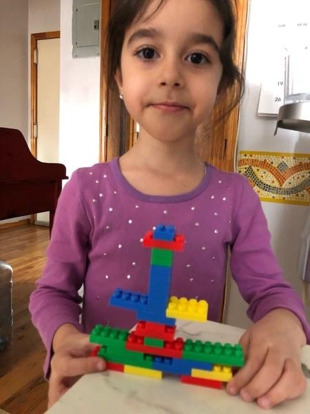 Girl shares her Lego building