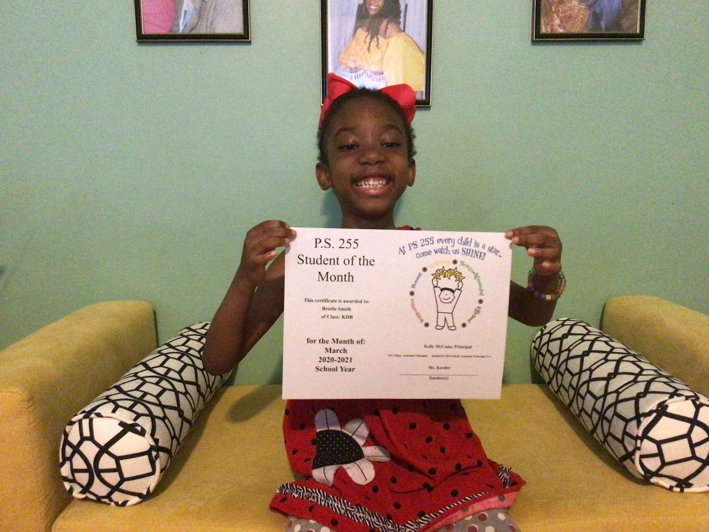 Brielle March Student of the Month