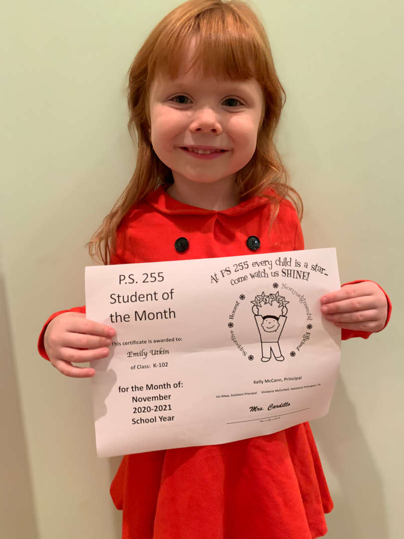 Emily November 2020 Student of the Month