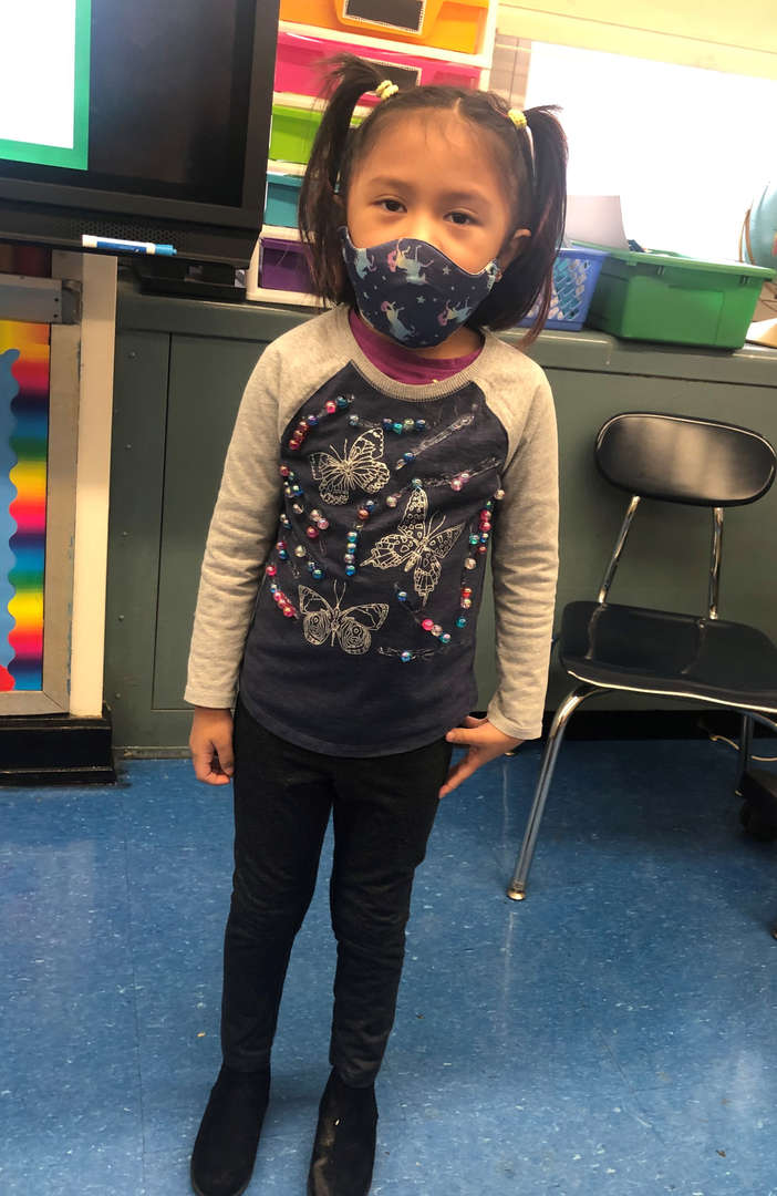 Kindergarten Student on the 100th day of school