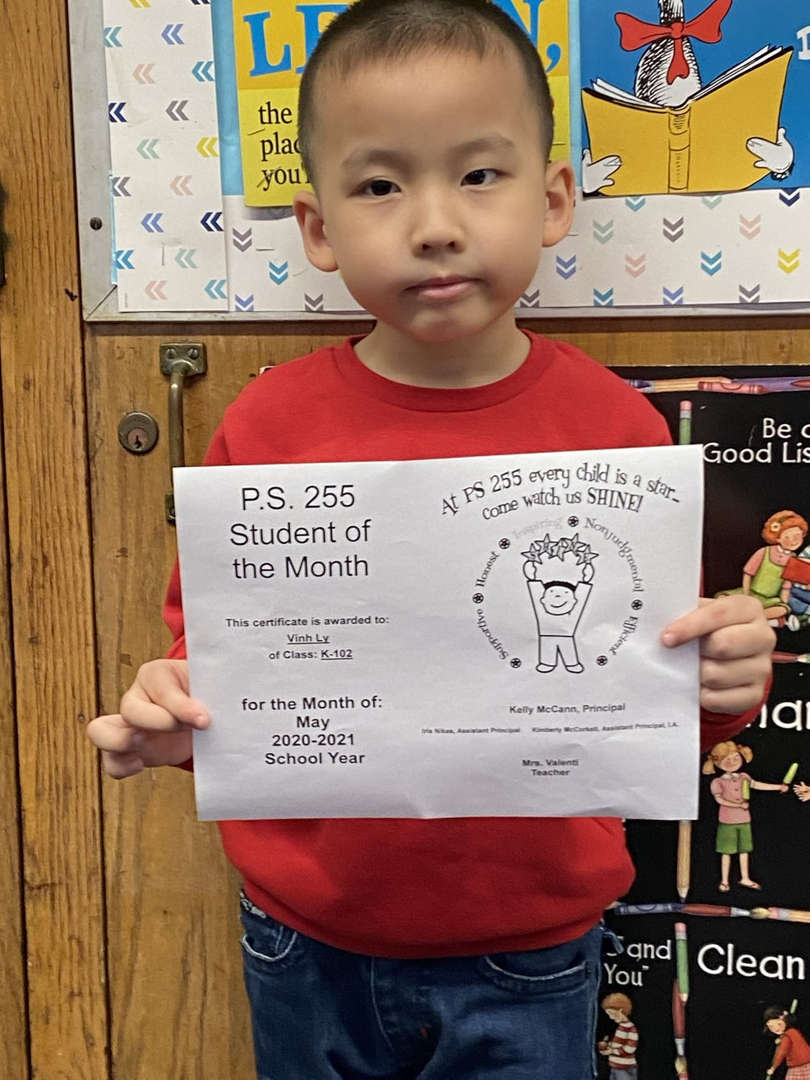 Vinh May Student of the Month