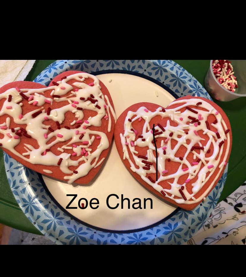 Zoe's heart cookies