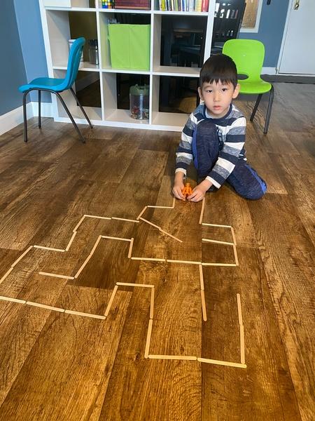 maze of the hardwood floor