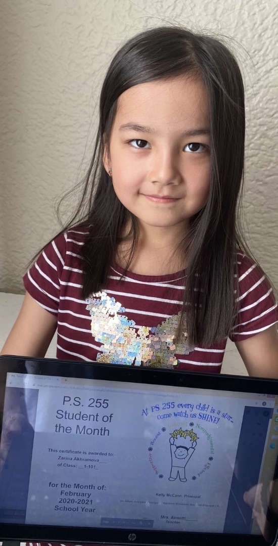 Zarina February Student of the Month