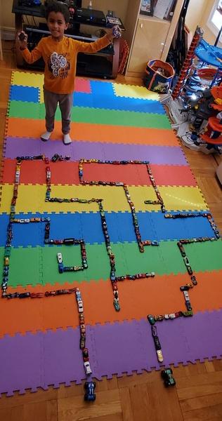 maze made on mats