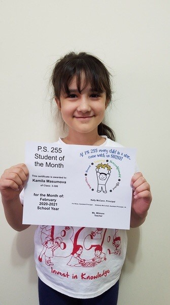 Kamila February Student of the Month