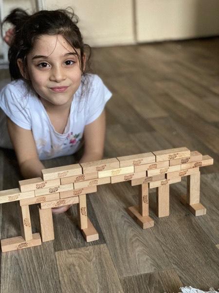 bridge made of blocks