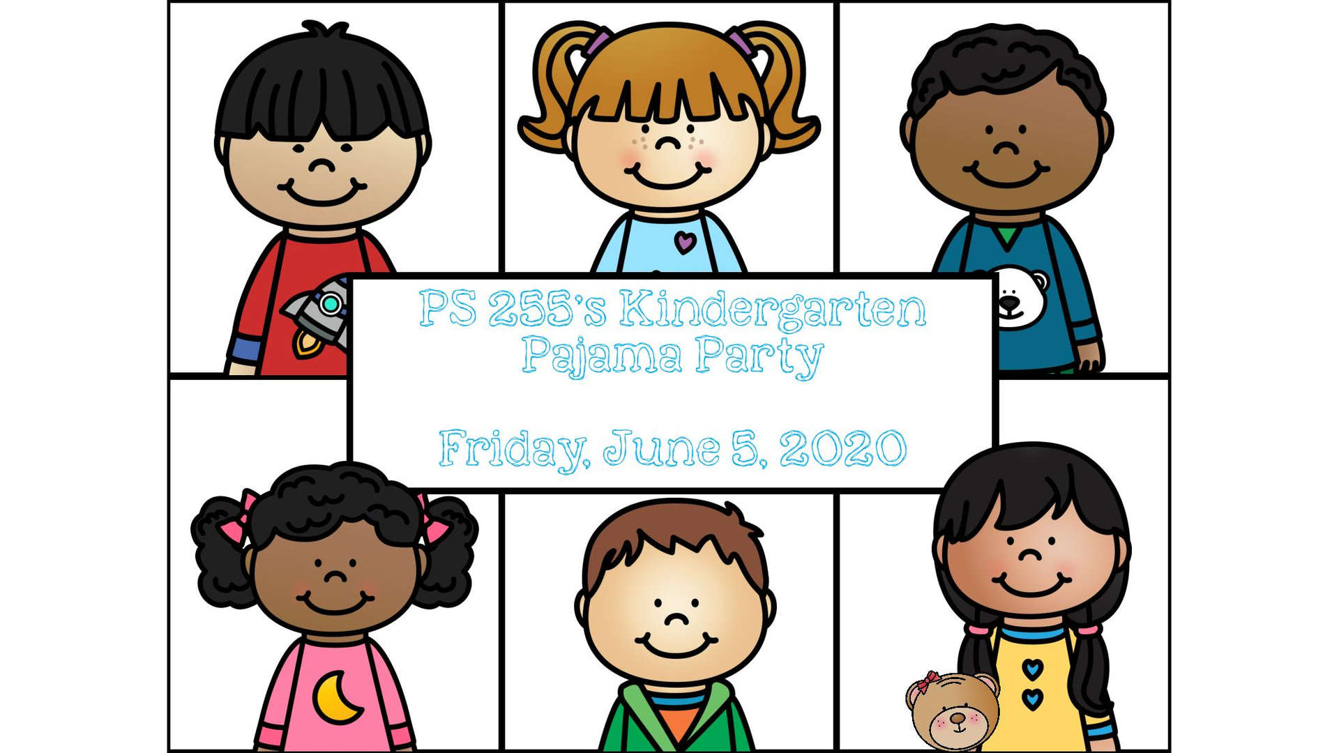 sign that we sent to the families about the pajama party
