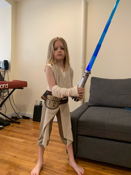 girl in Star Wars costume
