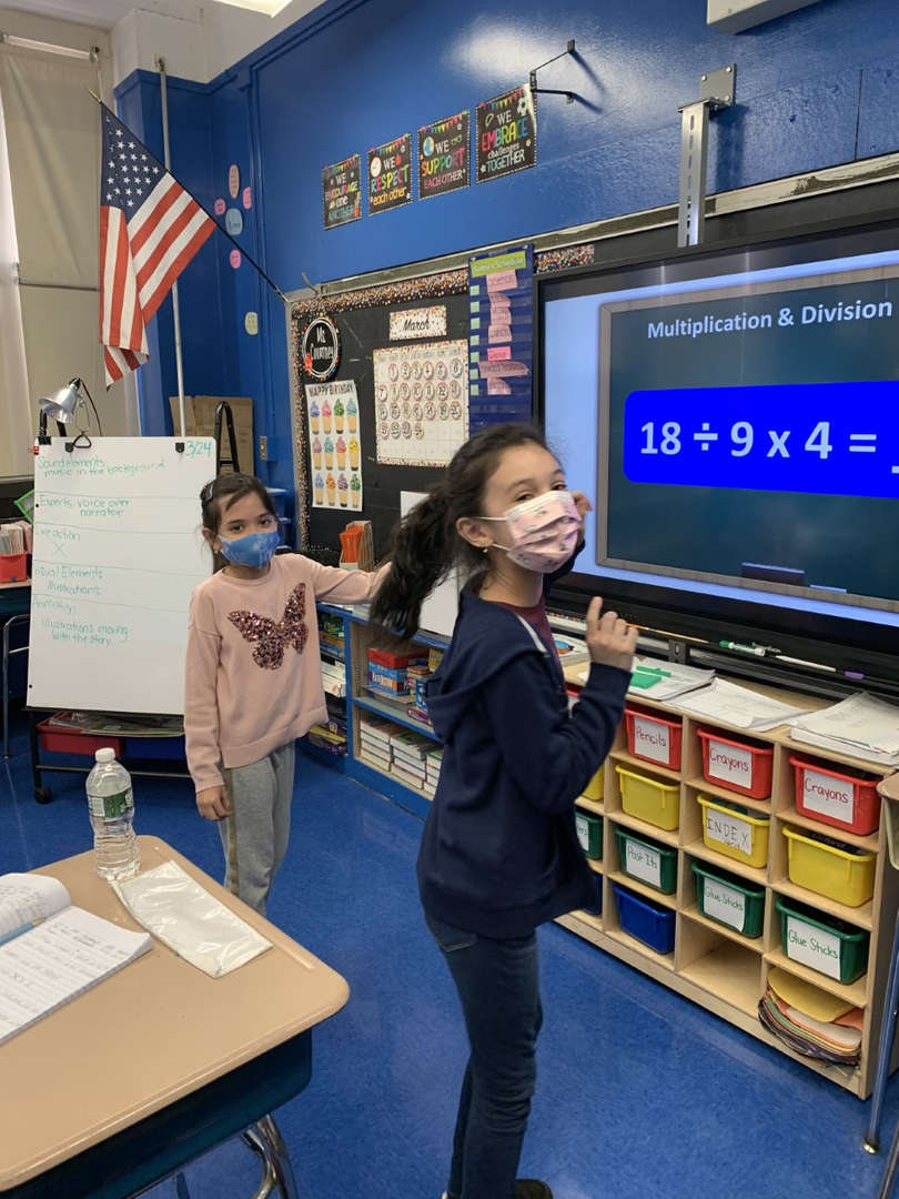 children trying to answer 1st during Math tournament