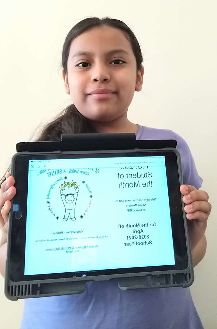Keyla April Student of the Month