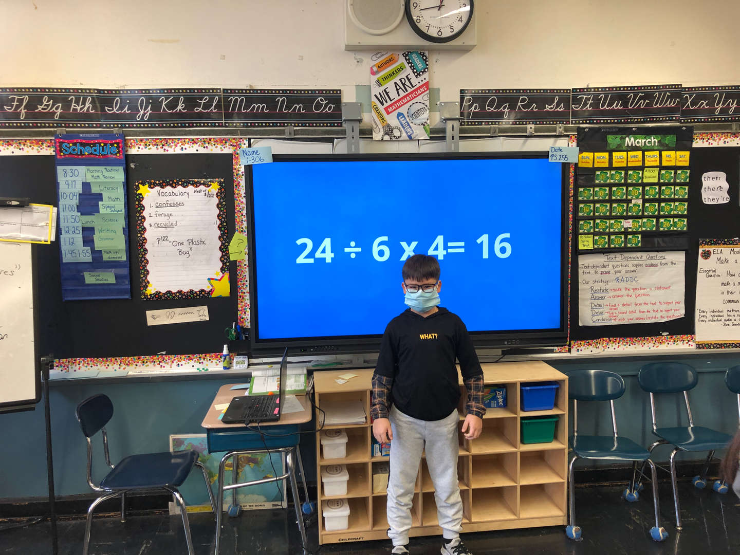 Student with the correct answer in math tournament
