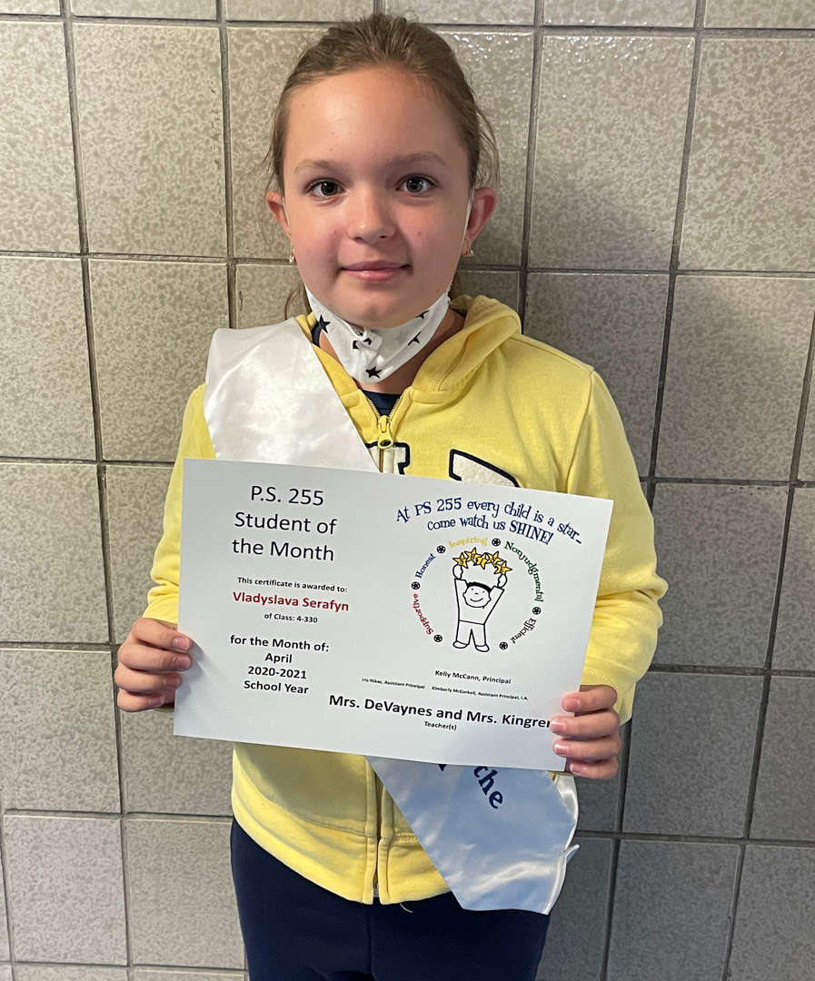 Vladyslava April Student of the Month
