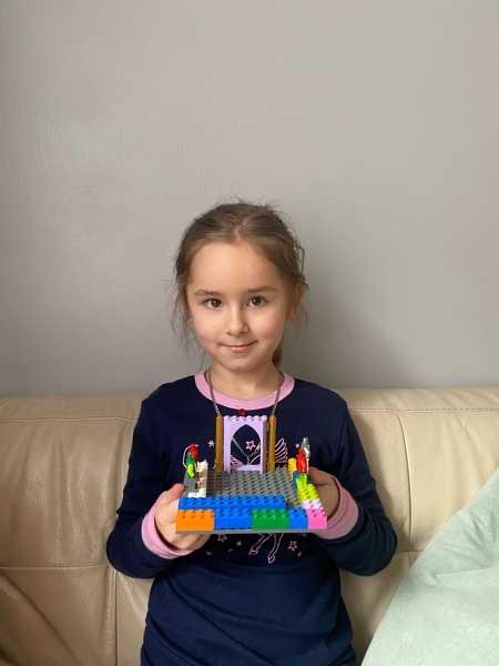 Girl shares her Lego creation