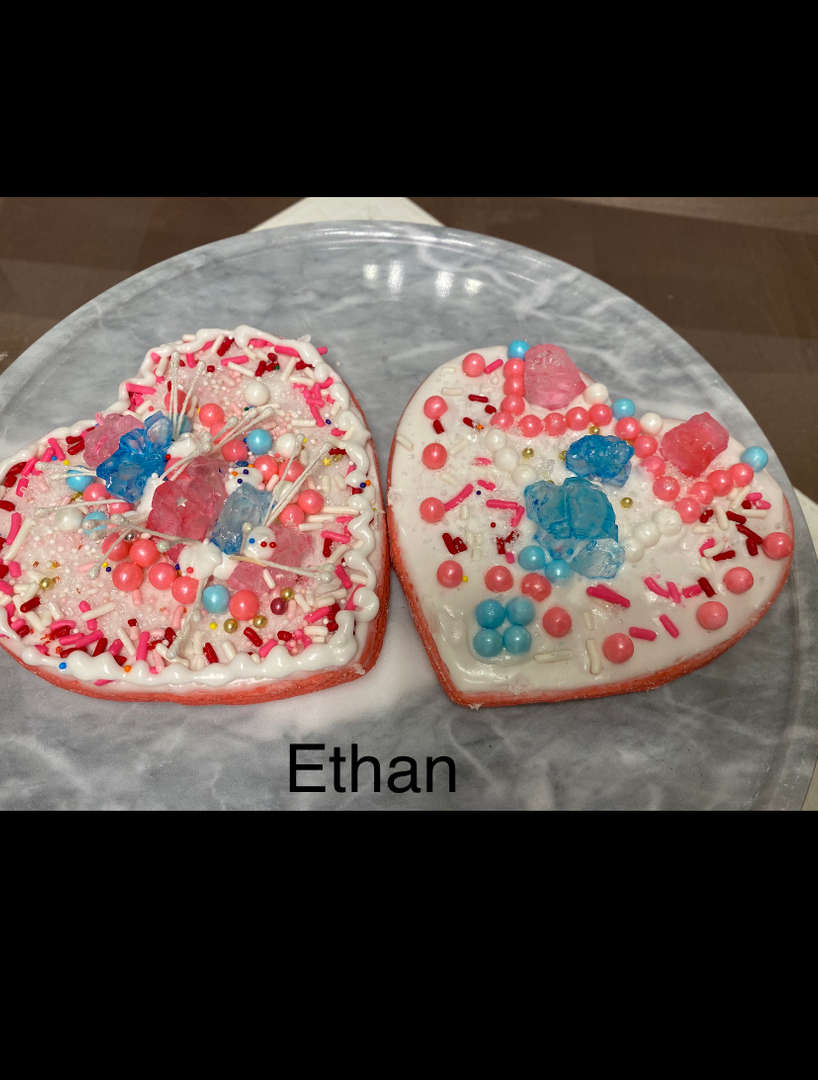 Ethan's heart cookies
