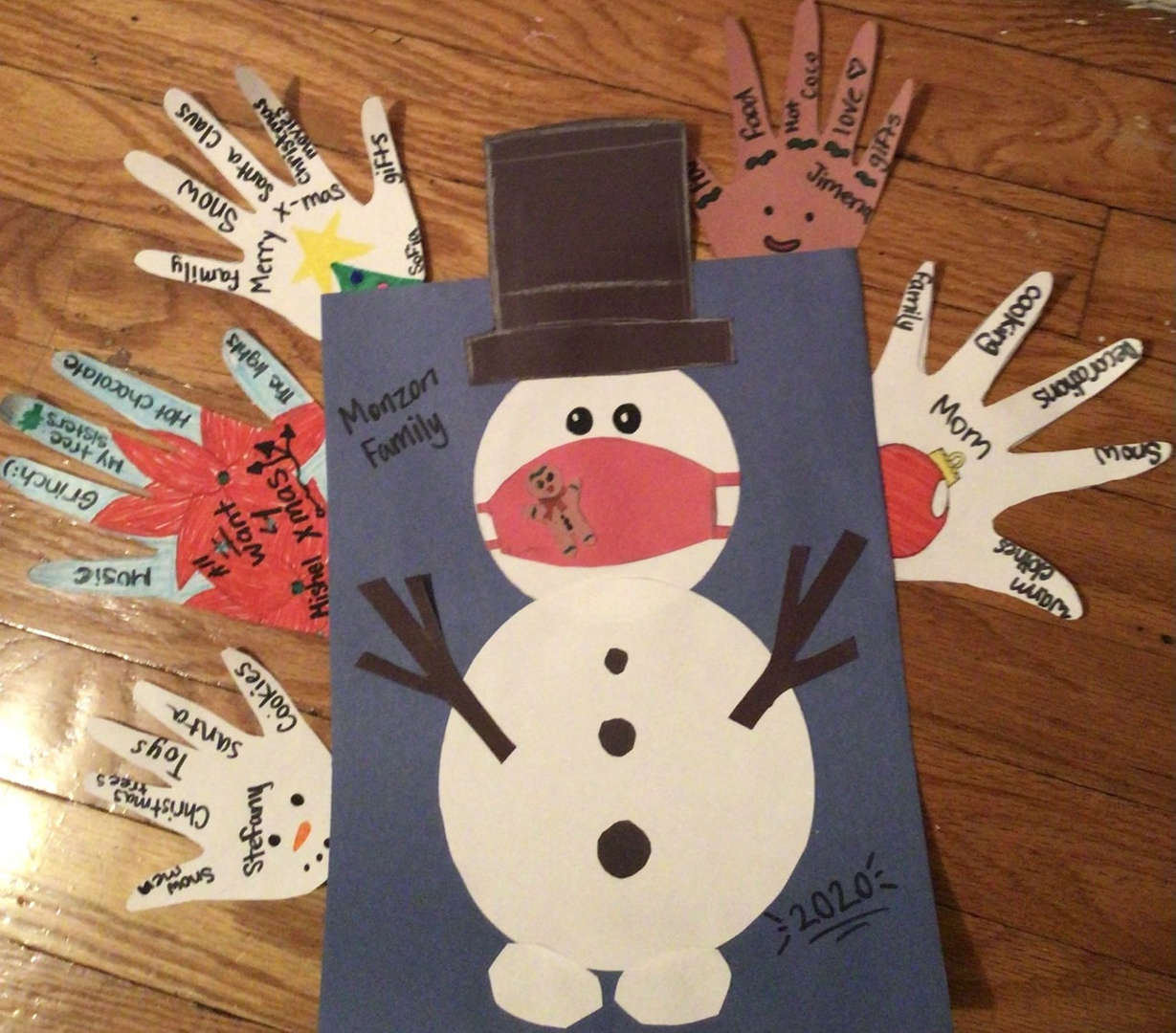 Snowman Hand Project