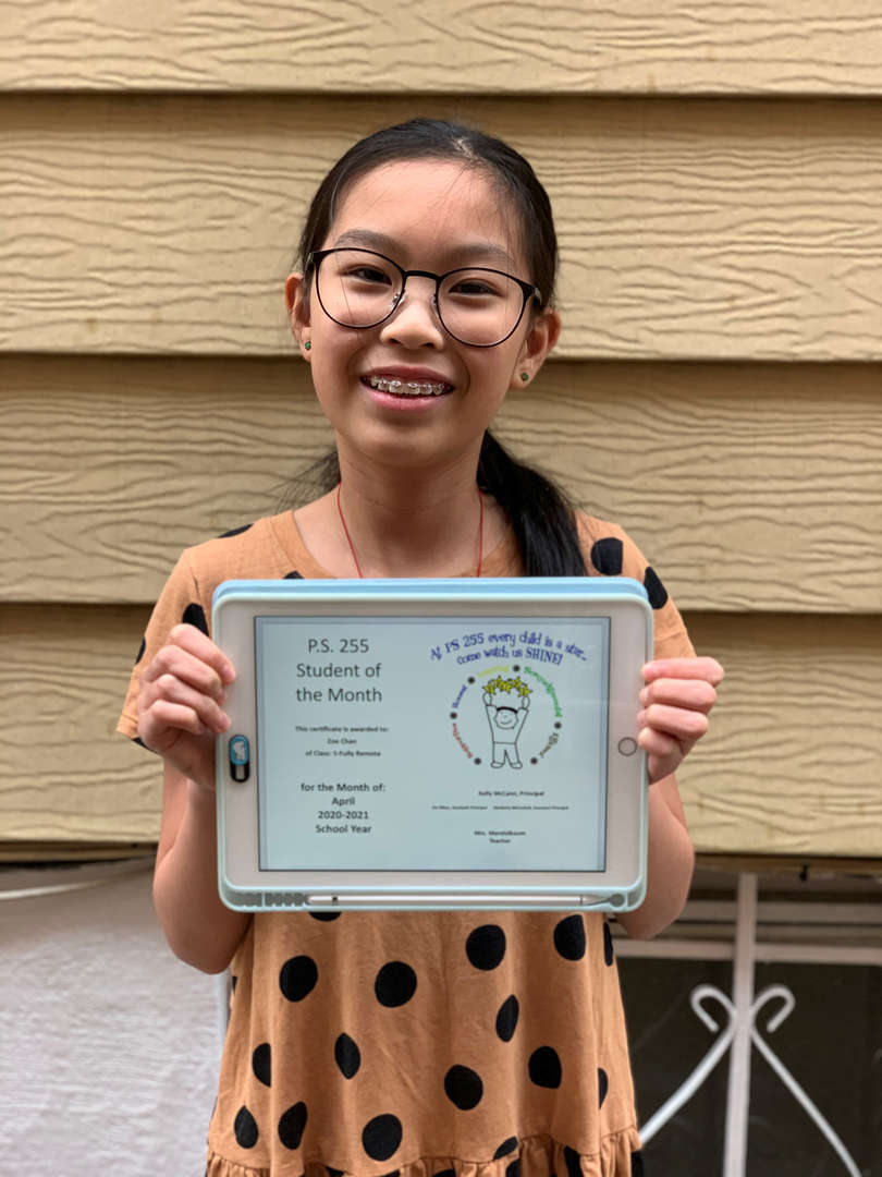 Zoe April Student of the Month