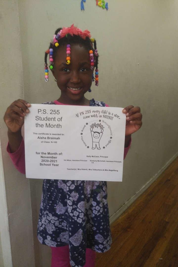 Aisha November 2020 Student of the Month