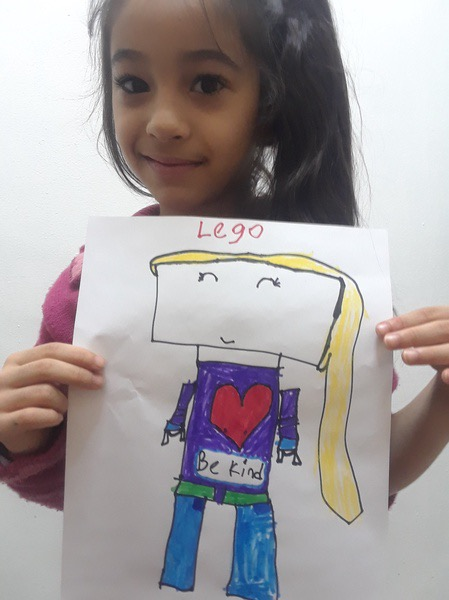 lego drawn girl