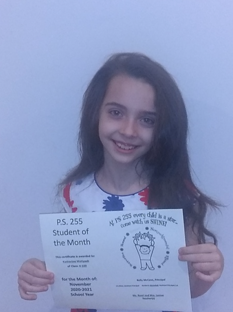Katherine November 2020 Student of the Month