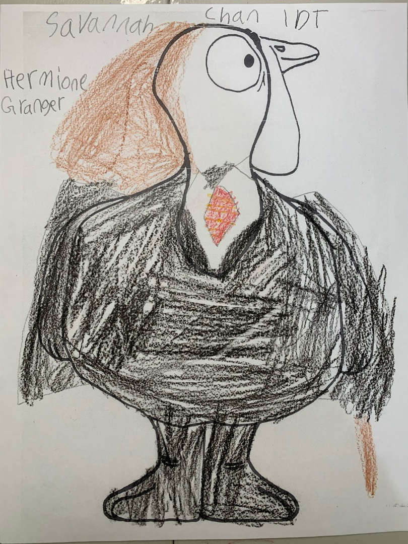 Turkey with a black suit