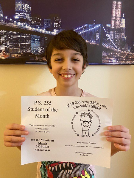 Matvey February Student of the Month