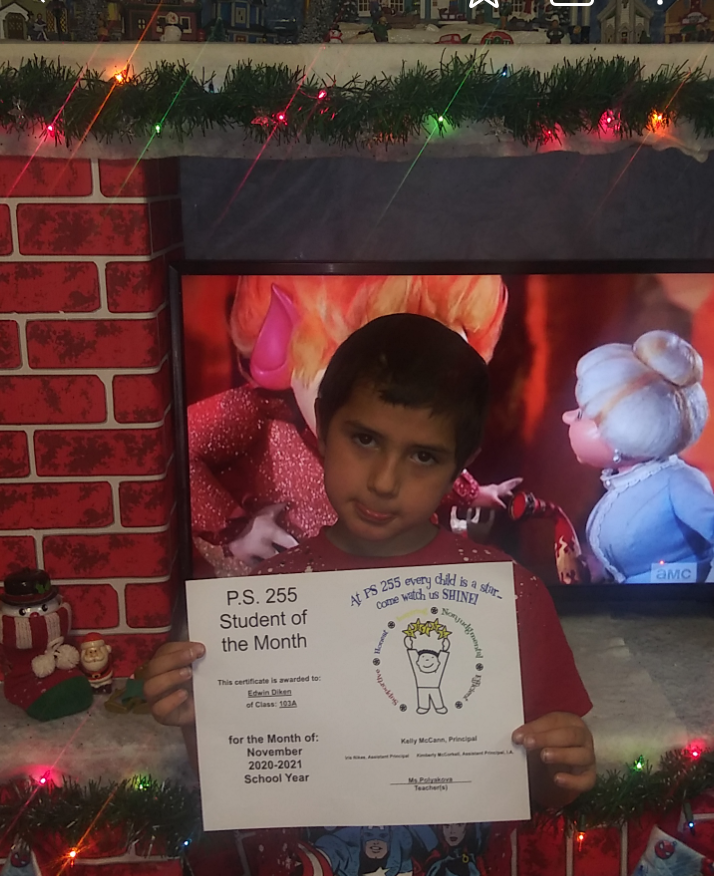 Edwin November 2020 Student of the Month