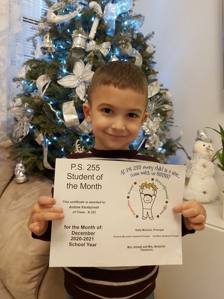 Andrew December Student of the Month