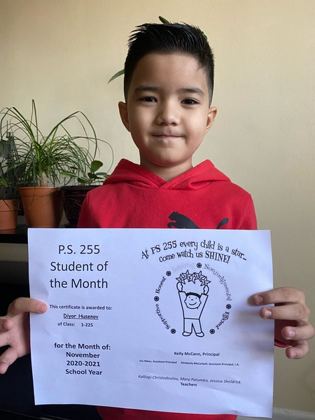 Diyor November 2020 Student of the Month