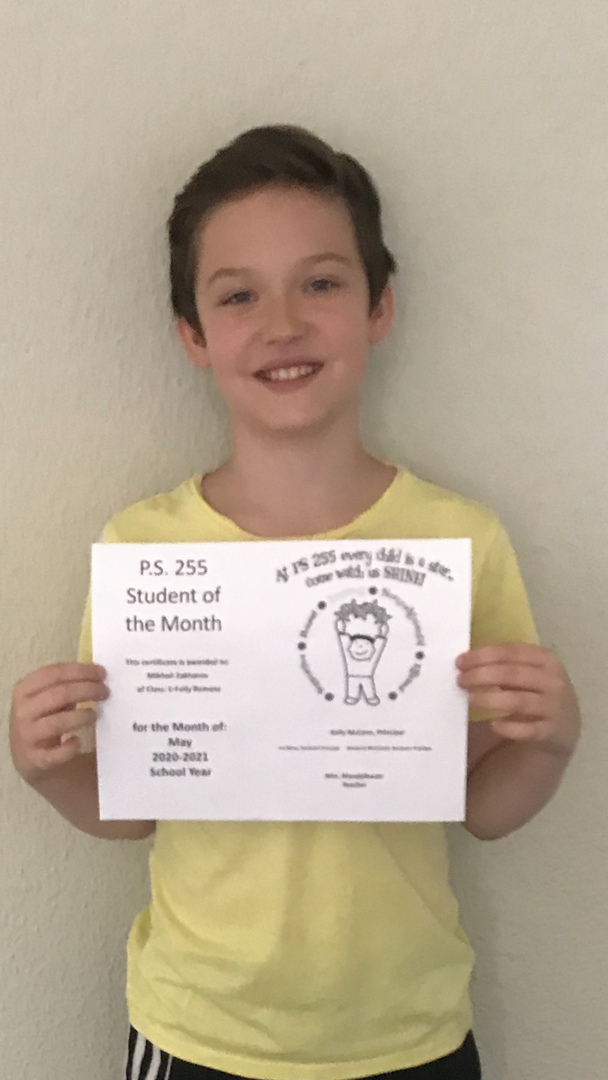 Michael May Student of the Month