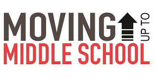 Sign saying moving up to middle school