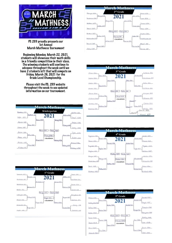 March madness brackets for the grades