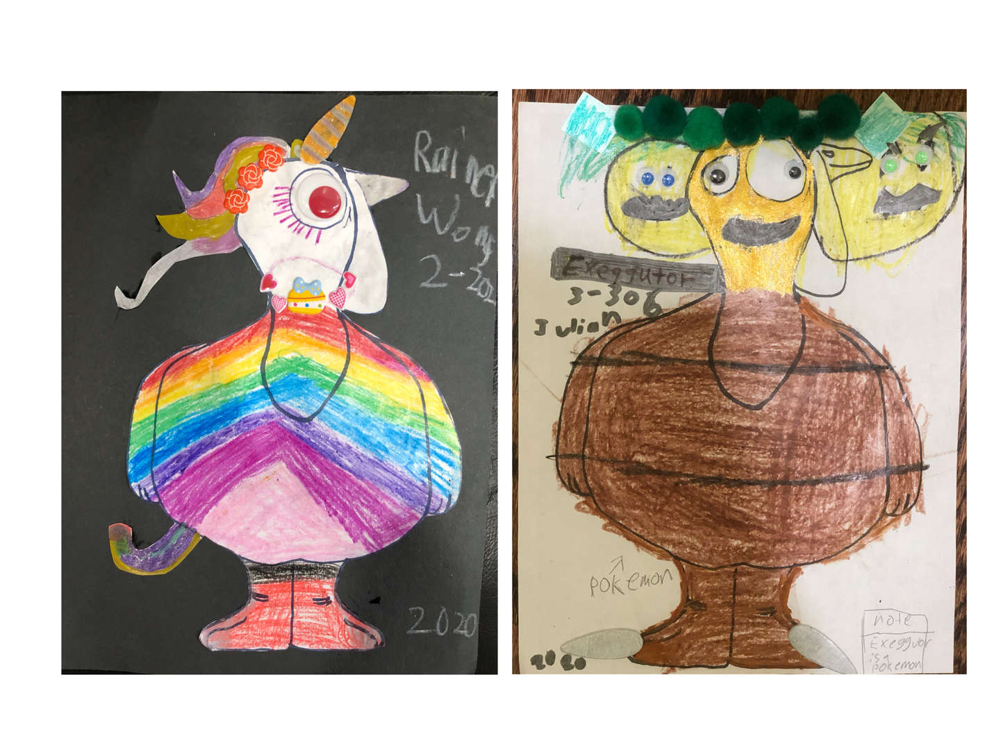 Rainbow and 3-headed turkey