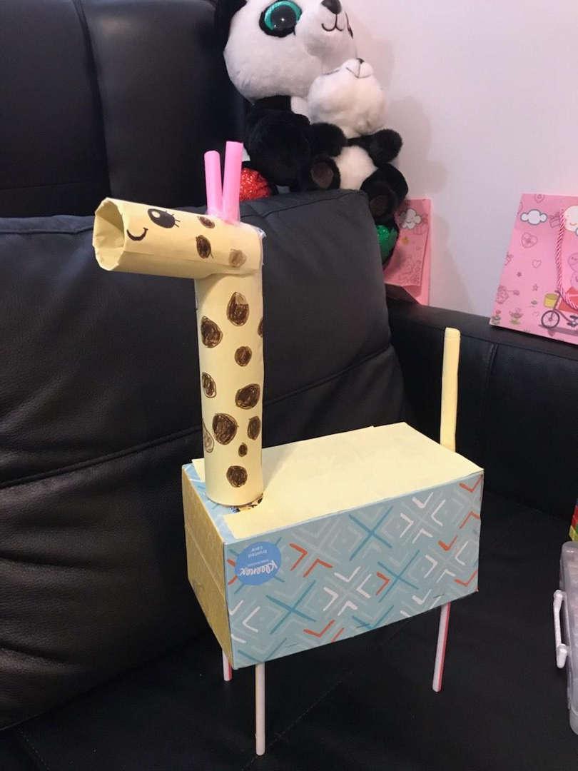 child made giraffe